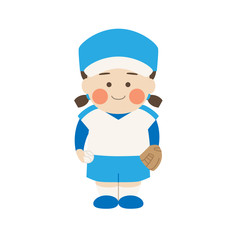 女性キャラクターソフトボール
