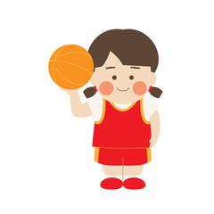 女性キャラクターバスケットボール
