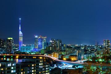 福岡市夜景、福岡タワー