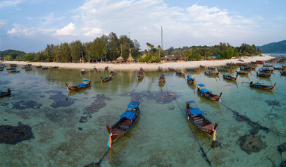 Longtail boat for travel thgailand beach