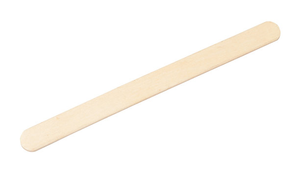 flat wooden craft ice cream stick isolated