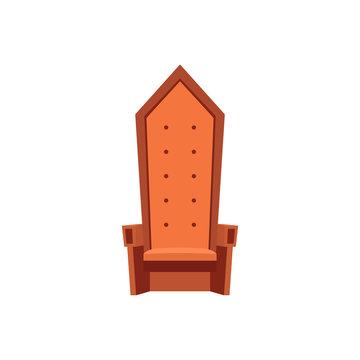 Empty royal throne cartoon style