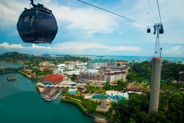 Cable Cars in Sentosa - Singapore Wall mural