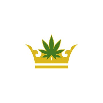 Crown logo, Marijuana crown logo