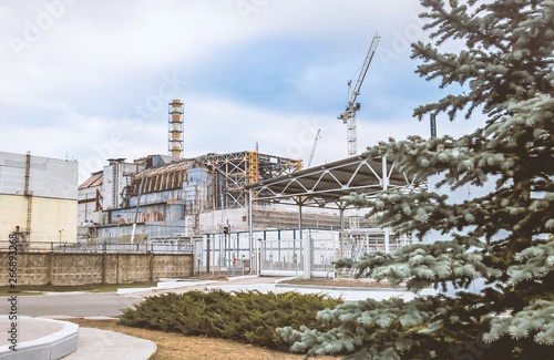 sarcophagus of the fourth power unit of the Chernobyl