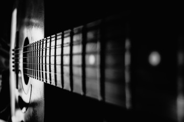background with a guitar