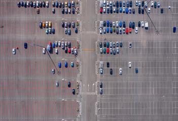 Shopping center parking