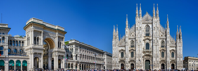 Acrylic Prints Milan View Cathedral Duomo and Galleria Vittorio Emanuelle in Milan, Italy.