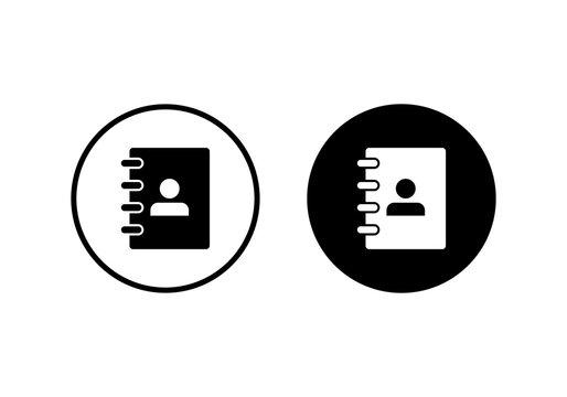 Address book symbol icon vector illustration. address phone book icon