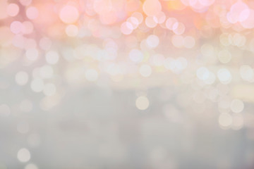 Abstract Sweet pink Bokeh background Soft white mist with copy space