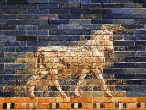 The bull of the Sumerian God Adad on the Ishtar Gate