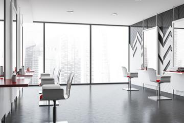 Poster Airport Panoramic barber shop interior design