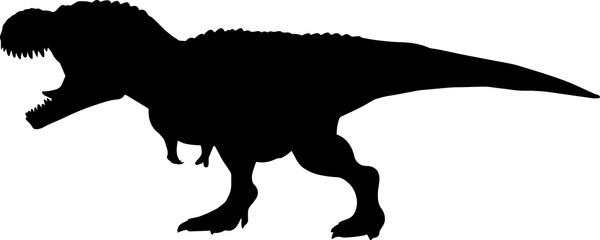 Tyrannosaurus Rex 8 isolated vector silhouette