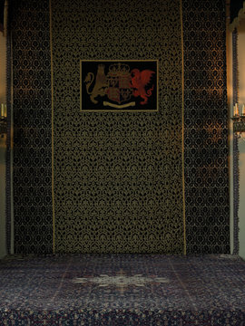 Tapestries with royal crest