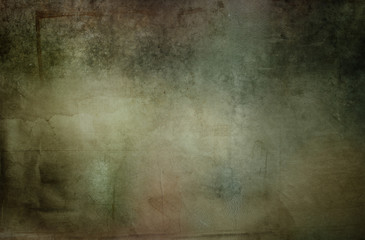 Green tone grungy wall