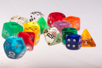 dices colorful Wall mural