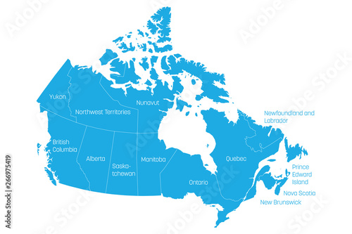 Map Of Canadas 3 Territories.Map Of Canada Divided Into 10 Provinces And 3 Territories
