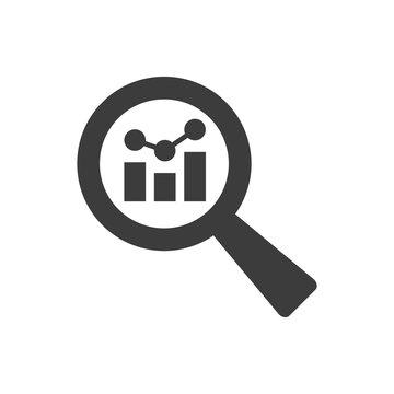 Analysis icon on white background.