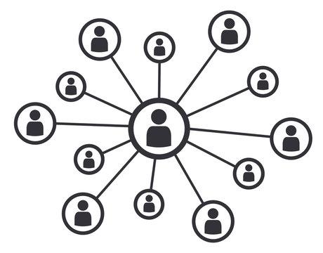 Networking social media concept business communication vector illustration symbol