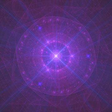 Purple Energetic Third Eye Chakra Bursting With Energy | Fractal Art