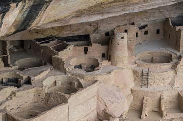 USA, Colorado, Mesa Verde National Park, Cliff Palace, indian dwelling