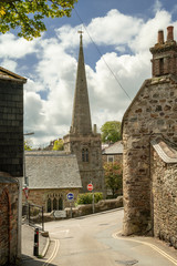 St agnes town cornwall england uk