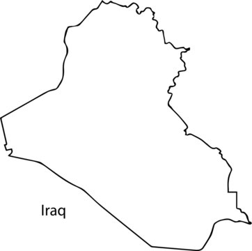 Iraq - High detailed outline map