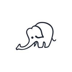 elephant logo design vector