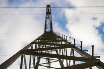 Hochspannungs Strommast Energie Strom Leitung Himmel