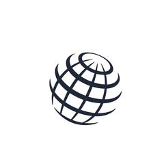 globe logo design vector