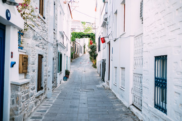 Old and Beautiful Street at Bodrum