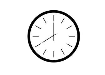 Office clock vector illustration eps 10
