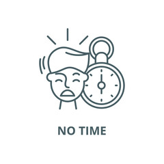 No time vector line icon, outline concept, linear sign