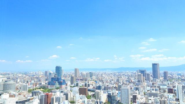 日本・大阪の都市景観 街並み, 都会, 都市, 摩天楼,