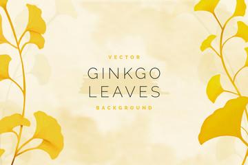 Gingko leaf background