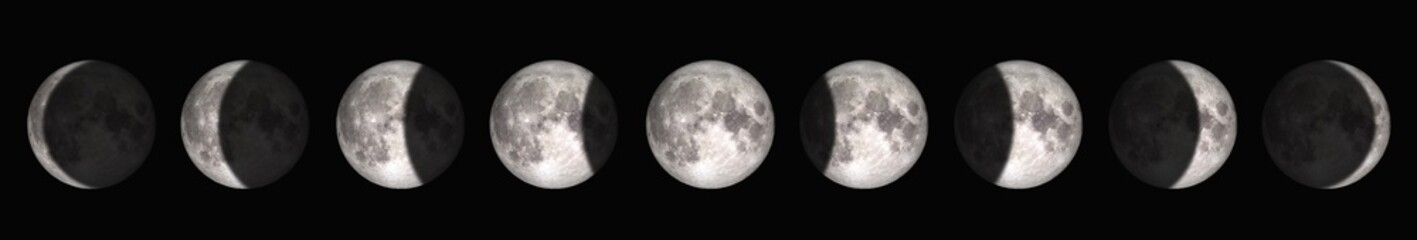 The period from full moon to new moon. Elements of this image furnished by NASA.