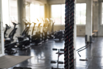 Picture of abstract gym center blurred background,Indoor
