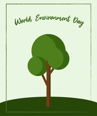 Vector Illustration to Celebrate the World Environment Day. Eco Card.