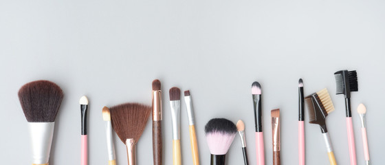 Set of makeup brushes for background Wall mural