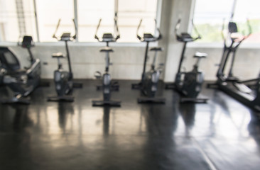 Picture of abstract gym center blurred background,Indoor sport club