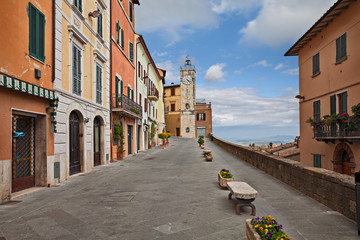 Chianciano Terme, Siena, Tuscany, Italy: panoramic street in the old town