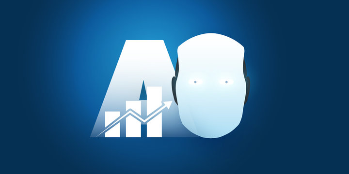 Business, Banking AI Services, Automated Wealth Manager Concept