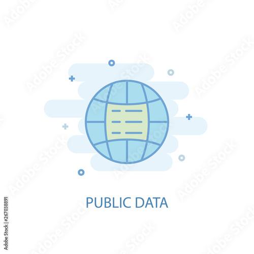 Public data line trendy icon  Simple line, colored