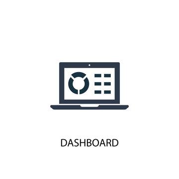 dashboard icon. Simple element illustration