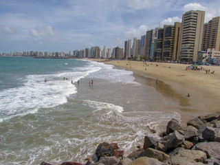 Praia de Iracema beach in Fortaleza, northeastern Brazil