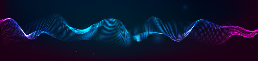 Music abstract background. Equalizer for music, showing sound waves with musical waves, the concept of a music equalizer vector. Fotobehang