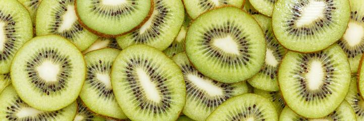 Kiwi fruits collection food background banner kiwis fresh fruit
