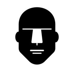 Fototapeta Flat linear design. Flat male person icon for apps and websites. Vector illustration. The man. Male head obraz