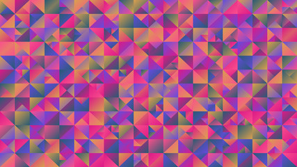 Colorful gradient polygonal triangle background - multicolor abstract vector graphic