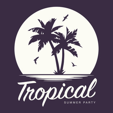 Tropical Sunset Summer Party